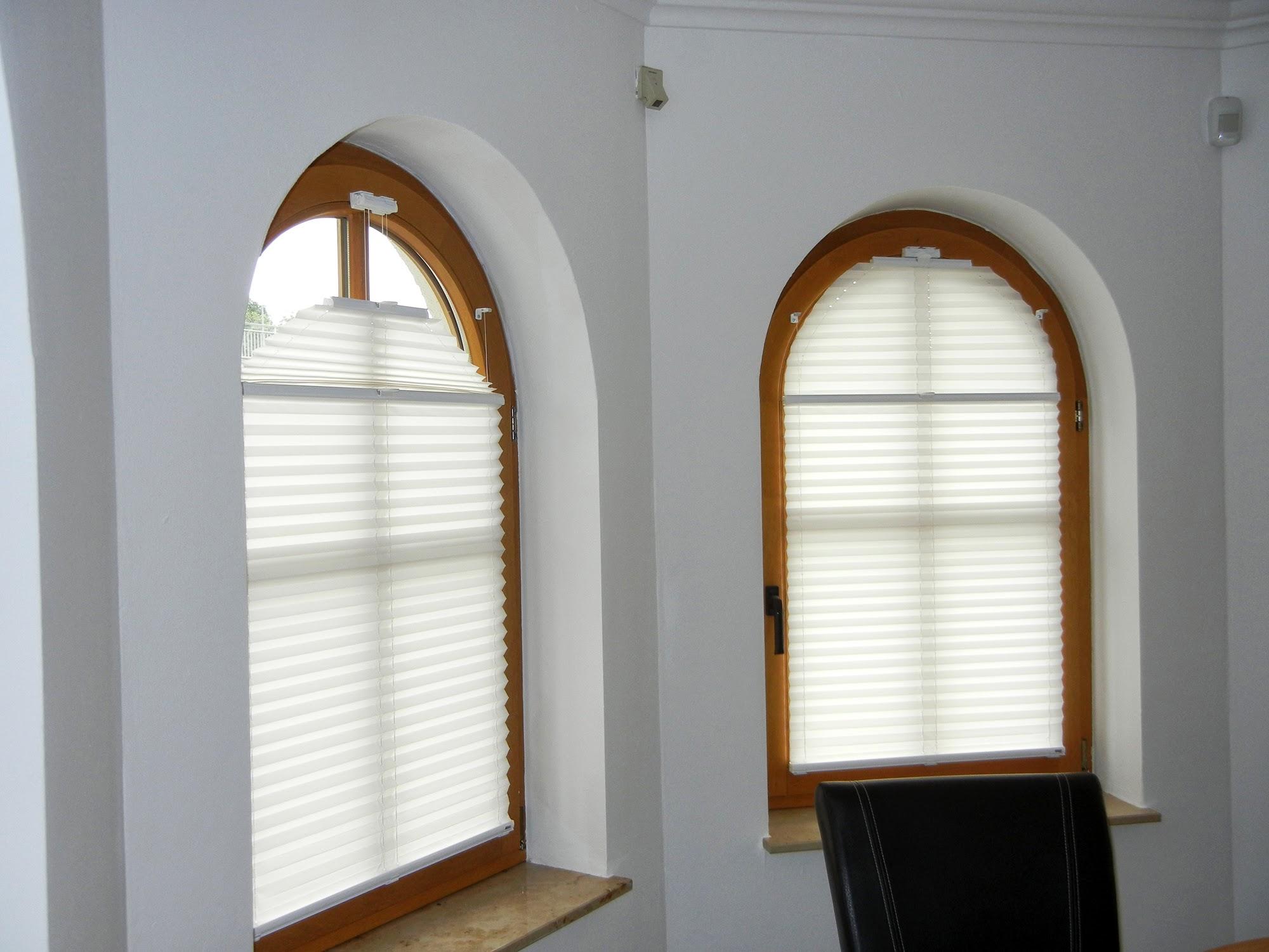 Plissee rundbogen prestige rollo - Fenster mit rundbogen ...