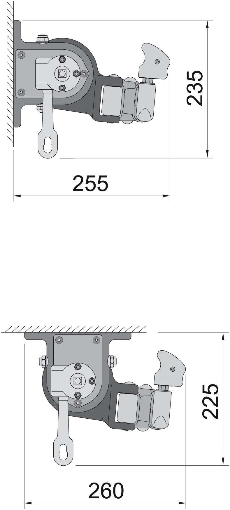 Montagemöglichkeiten Modell Bremen